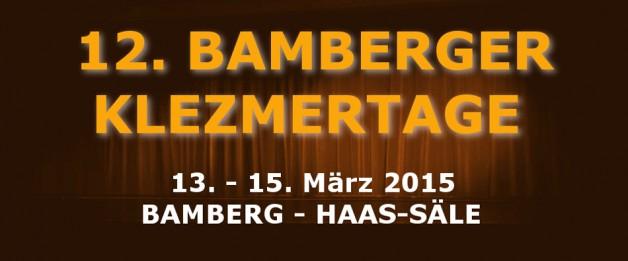 Festivaleinladung zu den 13. Klezmertagen nach Bamberg!