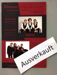 Klezmer-Doppelkonzert mit Rozhinkes und Aufwind im Ring-Café 2016