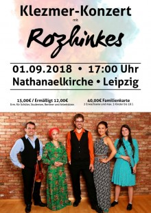 Klezmer-Konzert mit Rozhinkes 2018